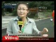Sel suları, muhabiri böyle yuttu