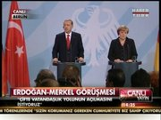Erdoğan-Merkel görüşmesi