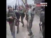 Suriye ordusunun ilginç zafer dansı