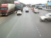 İki TIR arasında feci kaza
