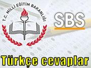 SBS Türkçe sorularının cevapları