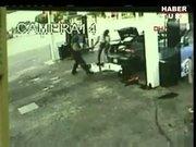 Kadının erkeği tüfekle vurduğu an saniye saniye kamerada