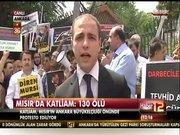 Ankara'da Mısır katliamı protestosu