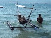 Marmarisli mucitten denizde yüzen hamak