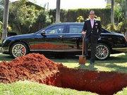 Firavunlara özendi son model lüks Bentley otomobilini gömdü