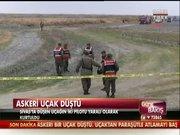 Sivas'ta uçak düştü
