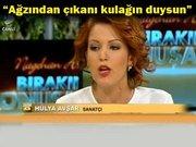 Hülya Avşar canlı yayında sunucuyu çılgına çevirdi