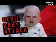 Şeytan bebek korkuttu!