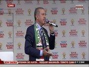Başbakan'ın mikrofonuna ses kalınlaştırıcı takıldı