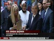 Cumhurbaşkanı Abdullah Gül oyunu kullandı