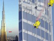 Dünya'nın en yüksek binasından atladılar