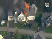 Ev böyle patladı!