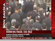 Başbakan Soma'da 205 işçiye mezar olan madene geldi