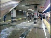 Ankara Metro'sunu su bastı!