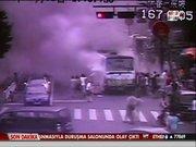Otobüsü böyle ateşe verdi
