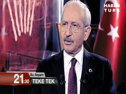 CHP lideri Kemal Kılıçdaroğlu Teke Tek'te