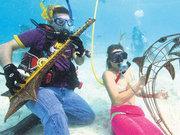ABD'de su altında müzik festivali yaşandı