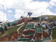 Erzurum'da Kış Olimpiyatları pisti çöktü