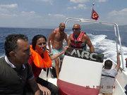 İzmir açıklarında tekne battı