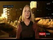Canlı yayında İsrail bombardımanı