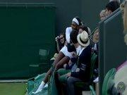 En şanslı tenis seyircisi!