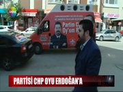 Partisi CHP, oyu Erdoğan'a