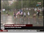 İstanbul'da fırtınalı yağış!