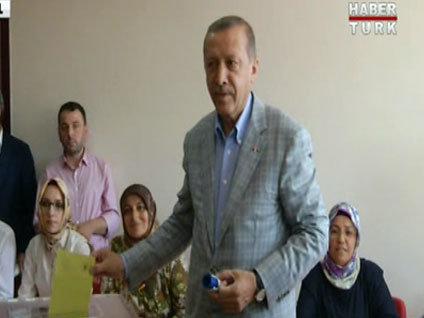 Cumhurbaşkanı adayı Erdoğan oyunu kullandı