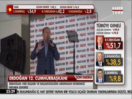 İşte Recep Tayyip Erdoğan'ın balkon konuşması