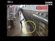 Tren istasyonunda korkunç olay