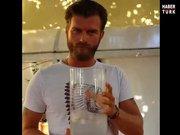 Kıvanç Tatlıtuğ'dan bir bardak su!