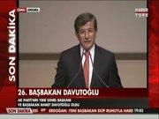 İşte yeni Başbakan Davutoğlu'nun ilk sözleri