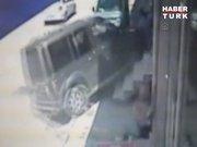 Ardahan'da korkunç kaza güvenlik kamerasında