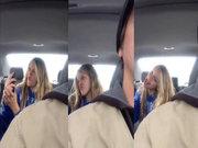 Arka koltukta selfie çılgınlığı