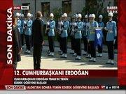 Erdoğan, tören kıtasını selamladı