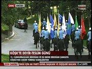 Erdoğan'ı atlı birlikler karşıladı