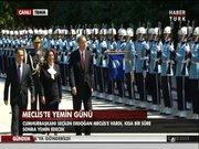 Erdoğan askeri törenle karşılandı