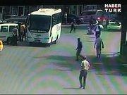 Bingür Sönmez'e yapılan saldırı kamerada!