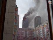 25 katlı bina kül oldu!
