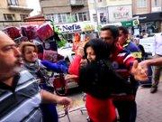 Suriyelilerle esnaf kavga etti