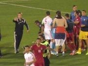 Sırbistan - Arnavutluk maçında olaylar çıktı
