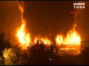 Halkalı'da gümrük sahasında yangın!