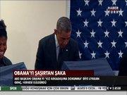 Obama'yı şaşırtan şaka