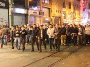Taksimde taraftar kavgası