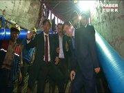 Davutoğlu, kömür ocağında incelemelerde bulundu