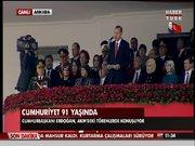 Erdoğan törende konuştu!