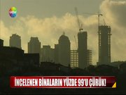 İncelenen binaların yüzde 99'u çürük!