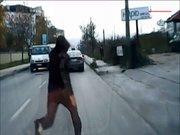 Trafikte ölüm oyunu!