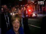 Merkel gece kulübüne gitti