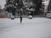 Antalya'ya kar yağdı